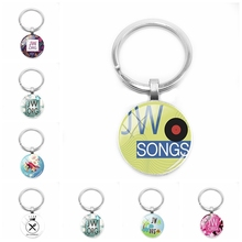 2019 New JW.ORG Keychain Jehovahs Witness JW Pendant Glass Cabochon Key Ring Car Gift
