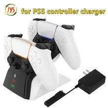 Indicatore LED ricarica rapida Dock a doppio Slot caricabatterie Base Base alimentatore e adattatore ca per Controller di gioco Wireless PS5