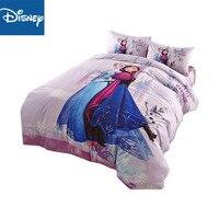 Frozen Elsa Anna queen size comforter bedding set for girls purple tiwn size duvet cover 3/4/5 pcs pillowcase sham 3D hot sale
