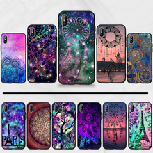 mandalas luxury Holder Relief Exotic Black Soft Shell Phone Case Capa For iphone 5 5s 5c se 6 6s 7 8 plus x xs xr 11 pro max(China)