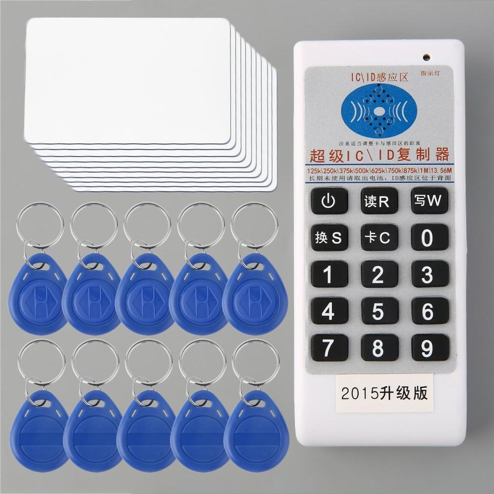 Professional Portable Handheld ID IC Card Reader Writer Duplicator Copier Cloner + 10 ID Tags + 10 Cards