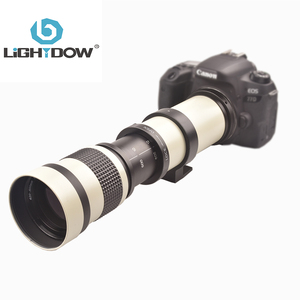 Lightdow белый зум-объектив 420-800 мм F/8,3-16 Super Telephoto, ручной зум-объектив + кольцо адаптера T2 для камер Canon, Nikon, Sony, Pentax, Sony Fuji