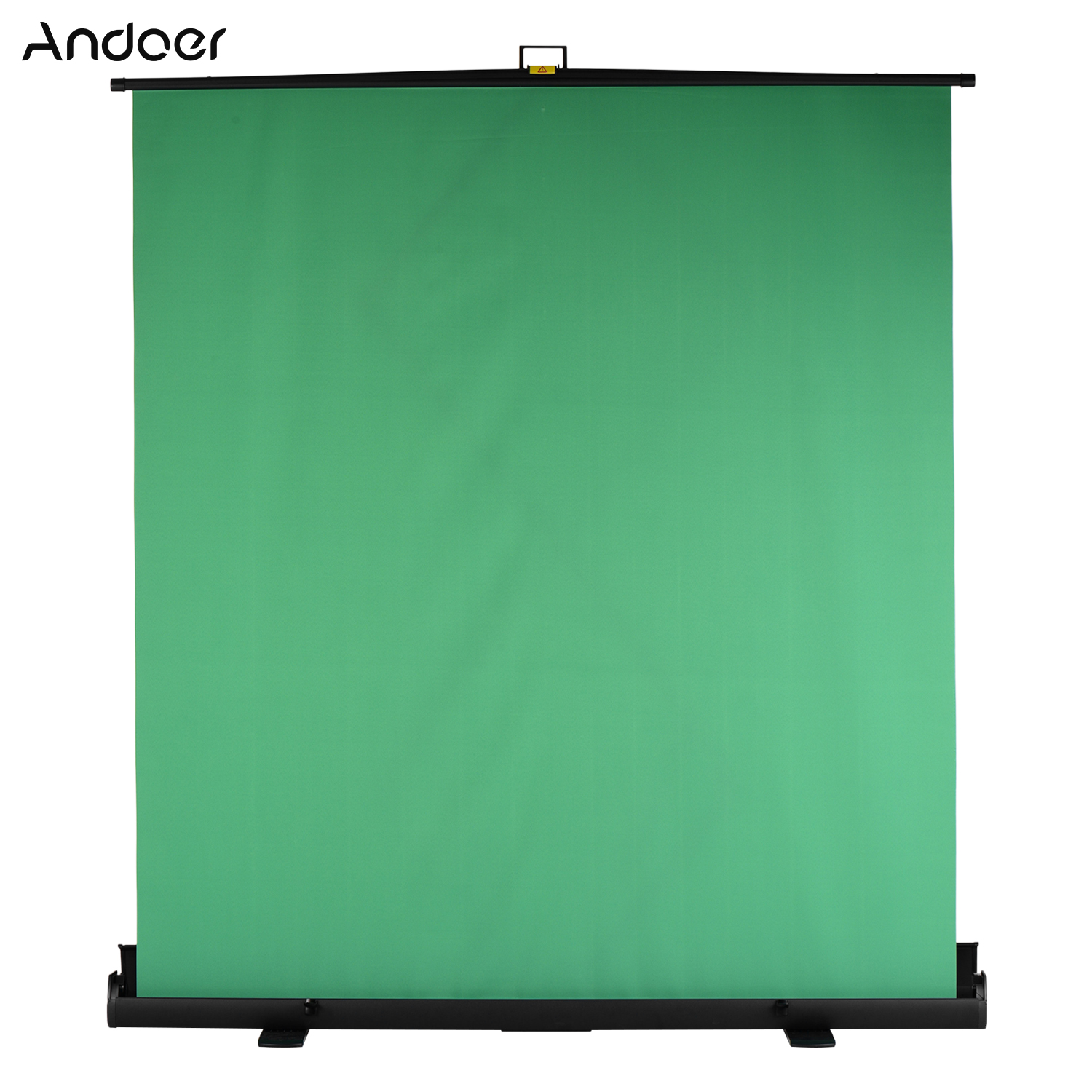 Andoer 200cm Height Collapsible Chromakey Background Pull-up Style Green Screen Backdrop for Photo Video Live Virtual Studio