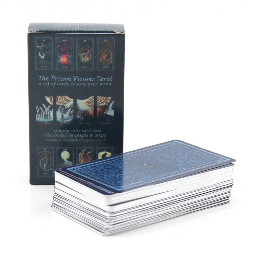78 Pcs Tarot Cards Silver Plated Cards English Board Game Playing Card Tarot Deck Cards For Party Entertainment