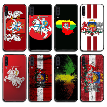 Lithuania Latvia flag Phone case cover hull For Samsung Galaxy A C Note 3 4 5 6 7 8 10 20 40 50 70 E S Plus Pro black shell image
