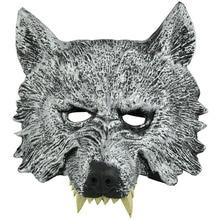 2019 PU Rubber Wolf Head Mask Fancy Dress Party Cosplay Costume Horrifying Monster Unisex Novelty Halloween Masks Full
