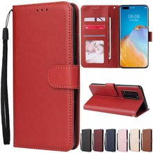 Flip Cover With Card Slot Stand Leather Case For Huawei P40 Lite/Pro P30 Lite P20 Lite 2019 P10/P9 Lite Mate 30 Lite/Pro/ 20Lite