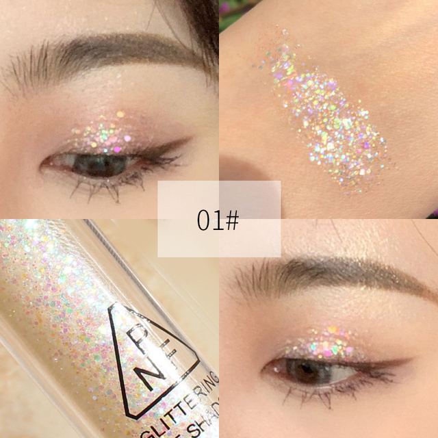 Mermaid Maquiagem Glitter Eyeshadow Gel Makeup Glitter Eye Liquid Pigments Eye Shadow Gel For Face Highlighter Body Hair Beauty 3