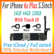 Freies iCloud Für iPhone 6s plus motherboard mit fingerprint mit touch ID, 100% Original entsperrt logic board Mit full chips MB(China)