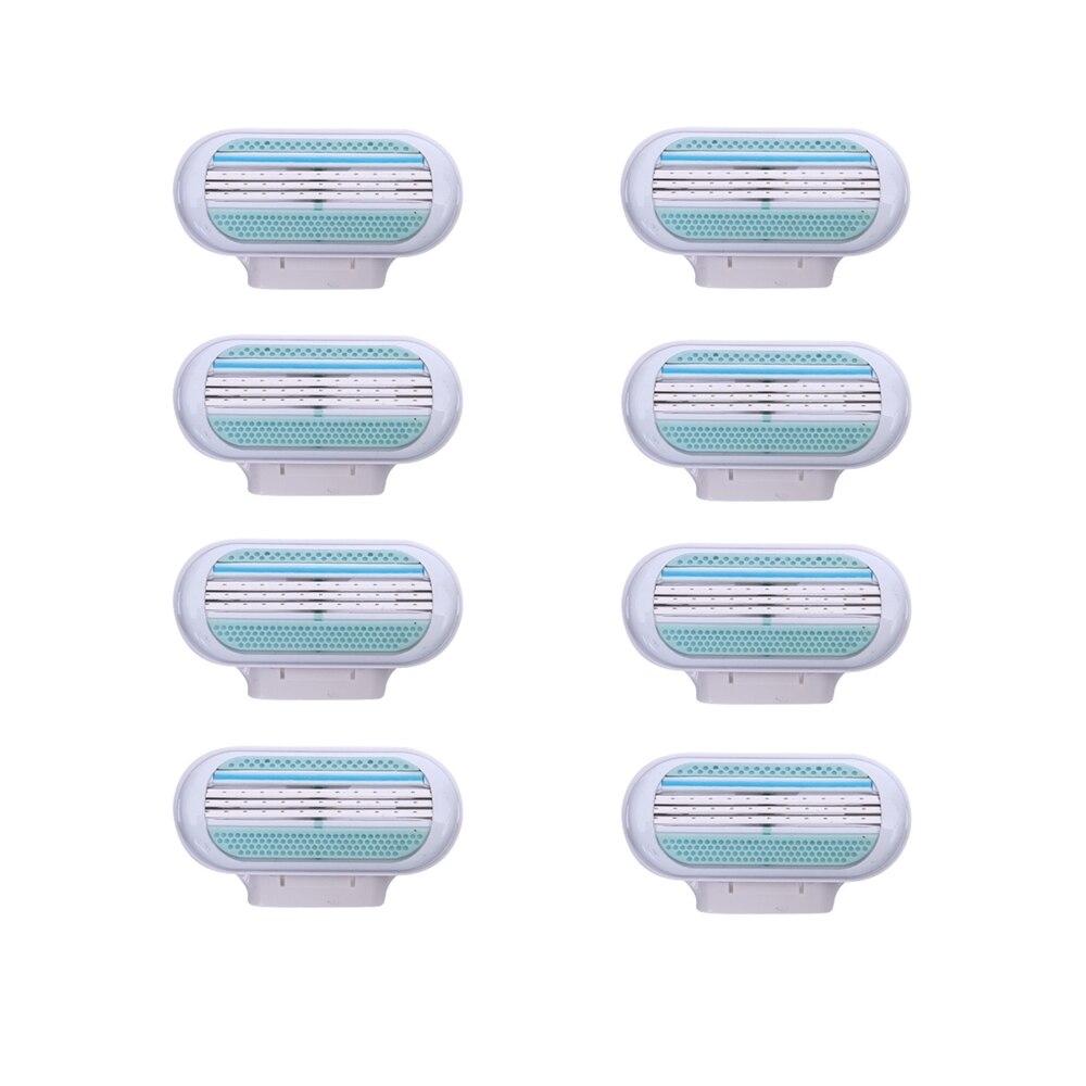 Бритвенные лезвия 8 шт./лот для женщин, сменные головки для эпилятора Venus с 3 лезвиями