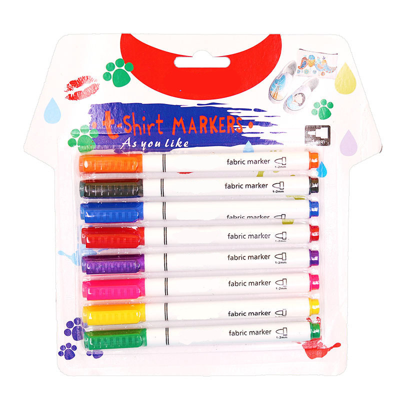 NEW 8 Color DIY Cloth Graffiti Toy Pen Children's Textile Brush Clothing T-shirt Canvas Material Coloring Creative Hand Tools