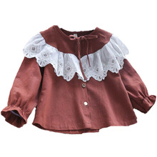 Kids Baby Girls Shirt Long Sleeve Clothes 3Y-7Y