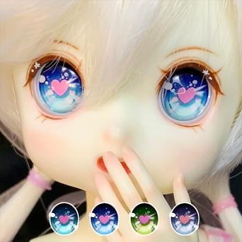 Doll eyeballs BJD eyes with metallic effect for 1/12 1/8 1/6 1/4 1/3 BJD SD DD doll eyes doll accessories 10mm-24mm 1 3 zak bjd sd doll makeup doll free