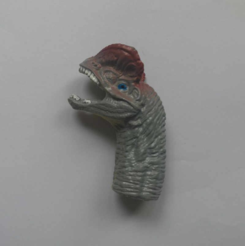 1 Uds. Títeres de mano de dinosaurio muestran juguetes de dedo de dibujos animados en la mano muñeca juego de rol títeres animales teatro de dinosaurio regalo para niños
