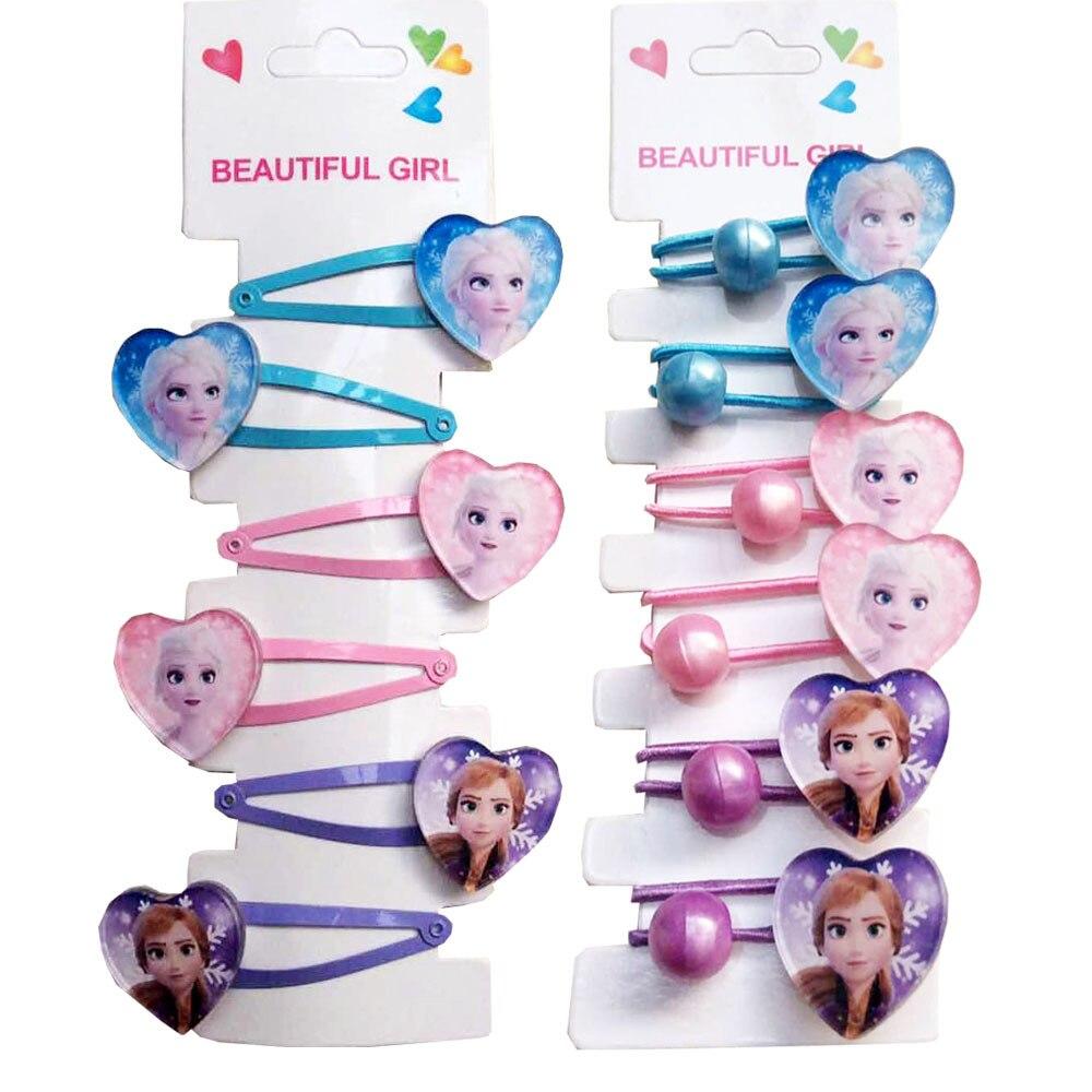 «Холодное сердце» 2 платья Эльзы BB заколка для волос резинка для волос аксессуары для милой принцессы для девочек повязка на голову, для кос...