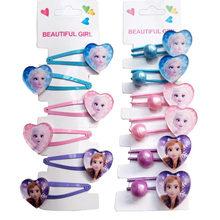 Frozen 2 elsa bb hairpin faixa de borracha acessórios para o cabelo bonito princesa meninas headdress cosplay festa grampos de cabelo presentes para crianças