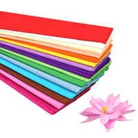 10 Uds. De papel de crepé de Color de 50x100cm, ramo de flores de embalaje arrugado a mano, papel plegable diy, materiales de fabricación de papel hechos a mano