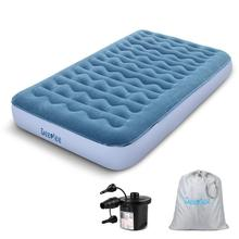 Gästebett Inflatable Air Mattress mit wiederaufladbarer Luftpumpe,Aufbewahrungstasche, Perfekt für Zuhause, Gast,