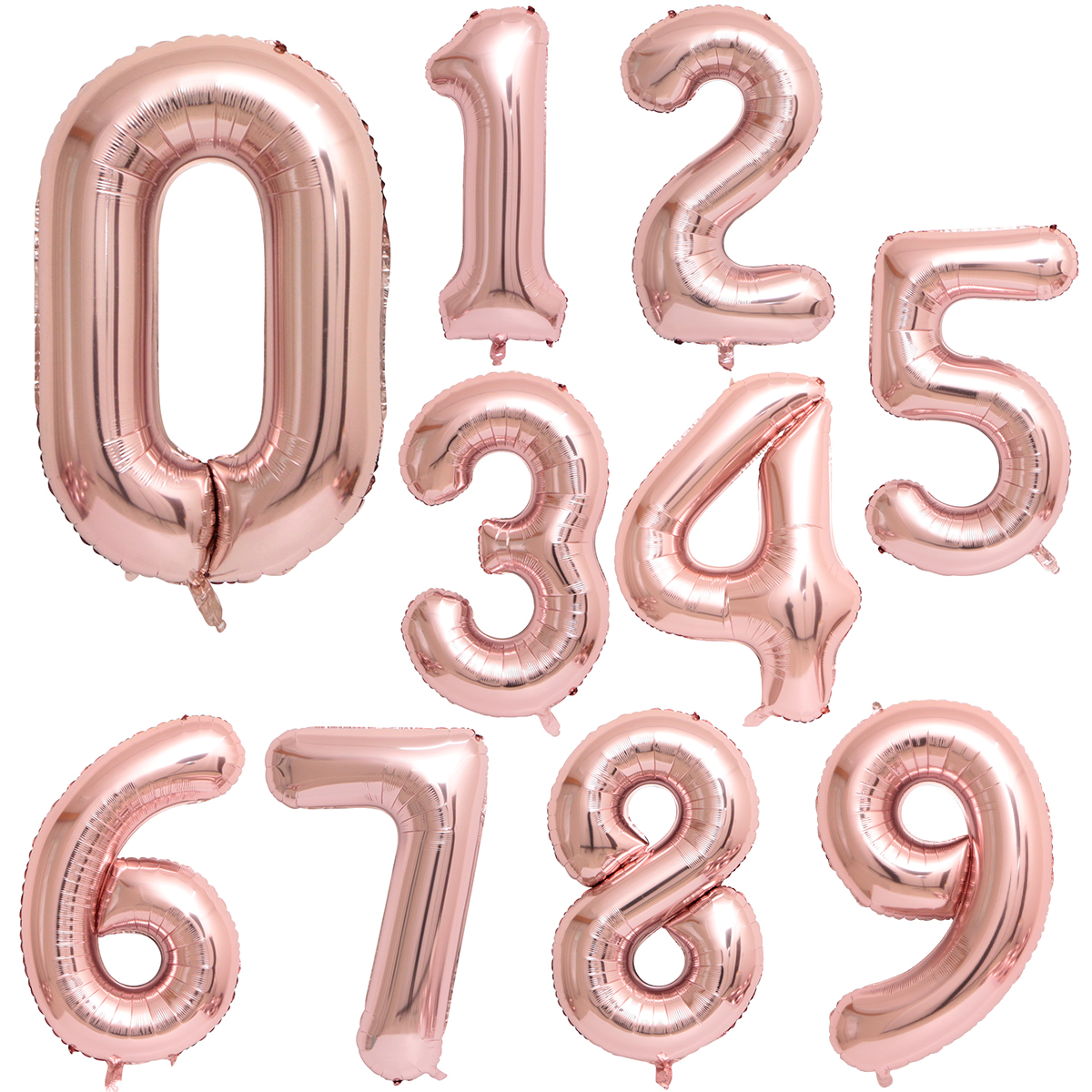 40 And 42 Inch Blue/Pink Big Number Foil Balloons For Birthday Wedding Engagement Party Decor 7