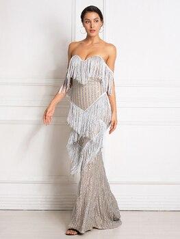 deco flapper vintage maxi dress