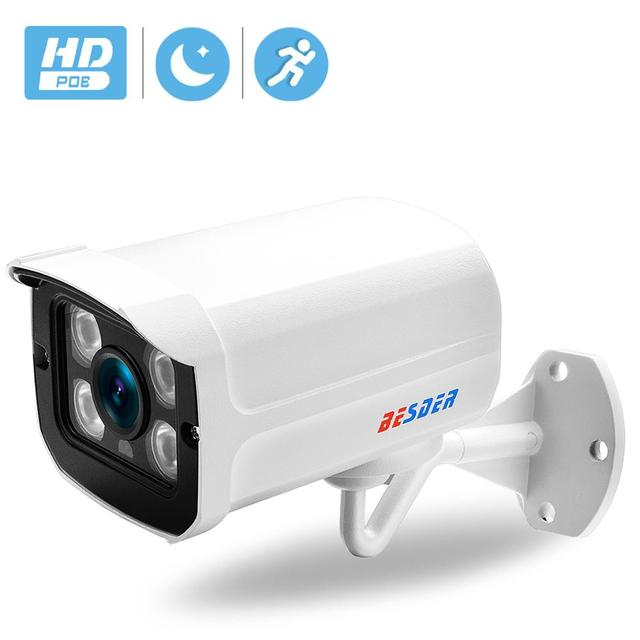 BESDER Aluminum Metal Waterproof Outdoor Bullet IP Camera 720P 960P 1080P Security Camera CCTV 4PCS ARRAY IR LED ONVIF Camera IP