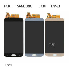 100% TEST TFT for Samsung J72017 J7Pro,J730,J730F lcd display with touch screen digitizer assembly control repair part