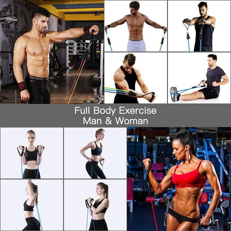 Латексные Эспандеры 11 шт./компл., тренировочные упражнения для кроссфита, трубки для йоги, резиновый эспандер, эластичные ленты, оборудование для фитнеса-3