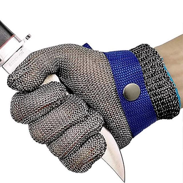Metallinen turvakäsine lihanleikkaamiseen – Lyhyt – Kiristettävä