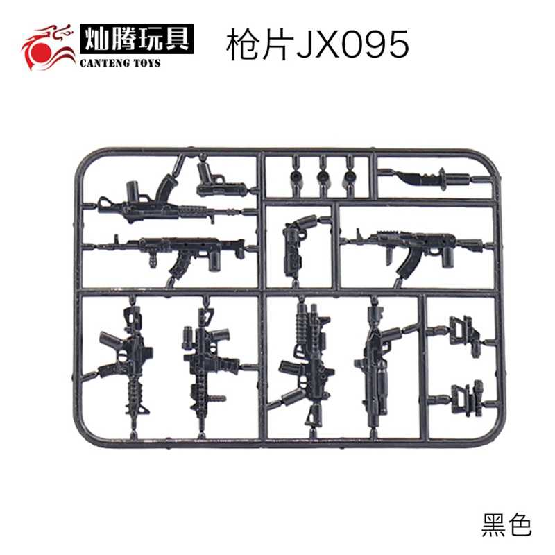 Legoing العسكرية Swat سلاح اللبنات أكل الدجاج لعبة البنادق الأسلحة P288 M4CQB AK47 HK416 M4 خنجر مدينة أرقام Legoings
