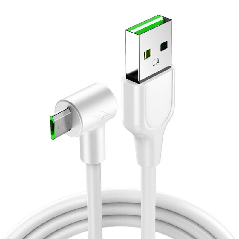 90 Degree mirco USB Type C Charging Cable 3A Date Line Fast Charge Cord 1M 2M,for mobile phone games