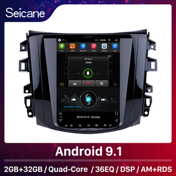 Seicane Android 9.1 Car Head Unit Player for 2018 Nissan NAVARA Terra 9.7 inch Radio System with GPS Navi Mirror link WIFI SWC image
