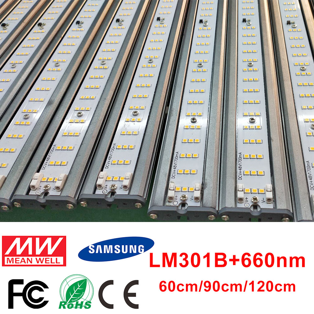 LED Grow Light Bar Quantum Board Samsung LM301B Full Spectrum 80W 3500K Plant Growing Lamp For Indoor Plants Greenhouse Tent