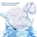 Mini Ultrasonic Washing Machine Portable Turbo Personal Rotating Washer Convenient Travel Home Business Travel Usb