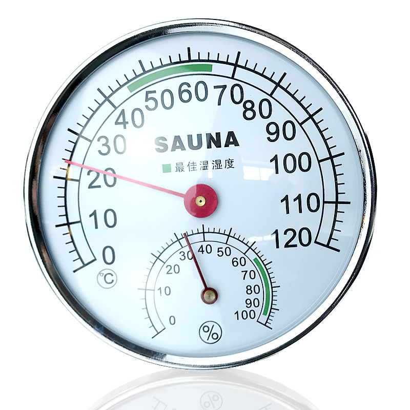 Thermometer Sauna Gold Edge Indoor Thermometer Hygrometer