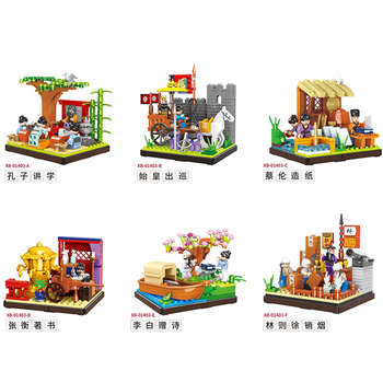 6-in-1 Chinoiserie Architecture Building Blocks 1785pcs The Chinatown Blocks Bricks Educational Toys Compatible with Leegooed