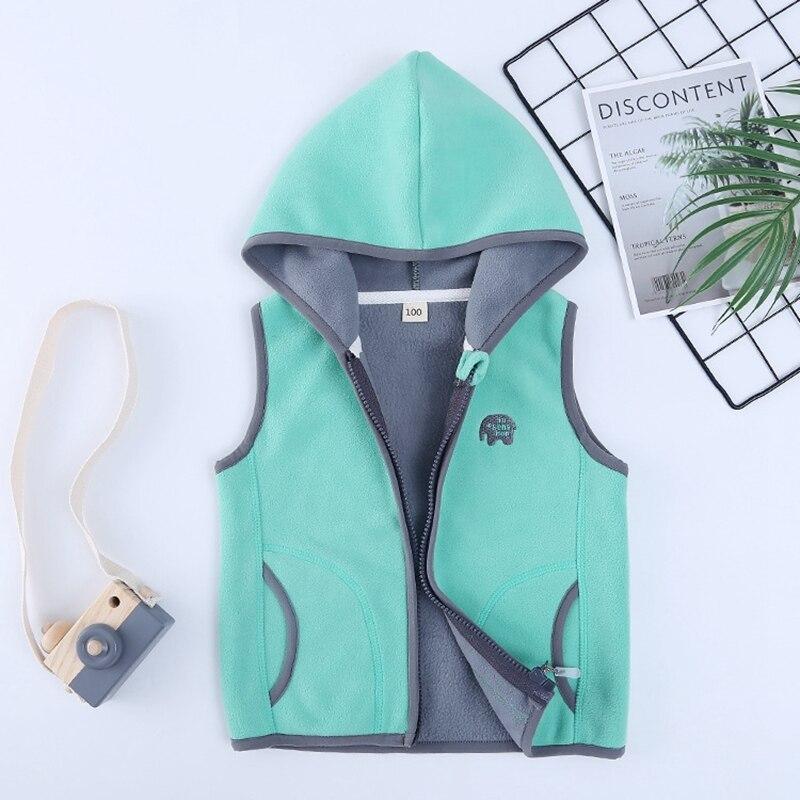 Sundae Angel Polar Fleece Vest Girl Autumn Hooded Animal Waistcoats For Boys High Quality Kids Gilet Fille Children Vests 2-8 Y 3