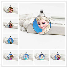 Best selling classic ice romance, Snow White, Ocean romance crystal glass necklace jewelry