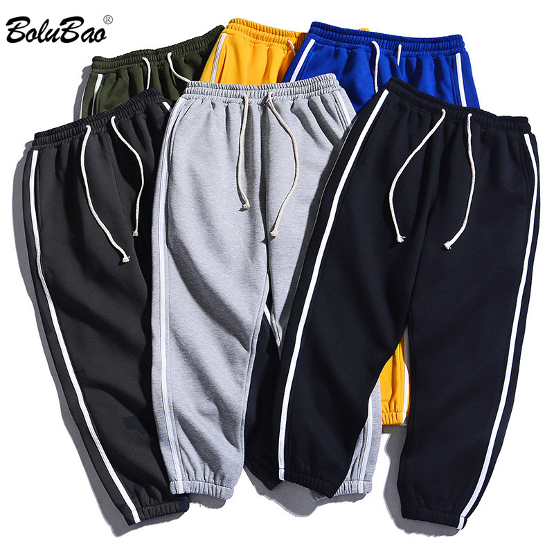 BOLUBAO Men Outdoor Sweatpants Autumn Men's Elastic Brand Trousers Fashion Jogging Comfortable Male Pencil Pants