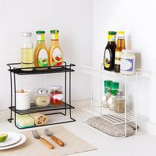 Двойной кухонный столешница из кованого железа для специй стойка для хранения приправ стойка для кухонных приборов домашняя напольная стойка