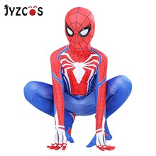 JYZCOS Spiderman Tight Superman Jumpsuit  Spider Man PS4 Homecoming Kids Adult Super-man Costume Anime Cosplay Costumes Clothing