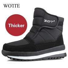 High quality Men Boots Winter Shoes Men Ankle Boots Waterproof Non-slip Warm Fur Flat Men Snow Boots big size 36-47 кроссовки