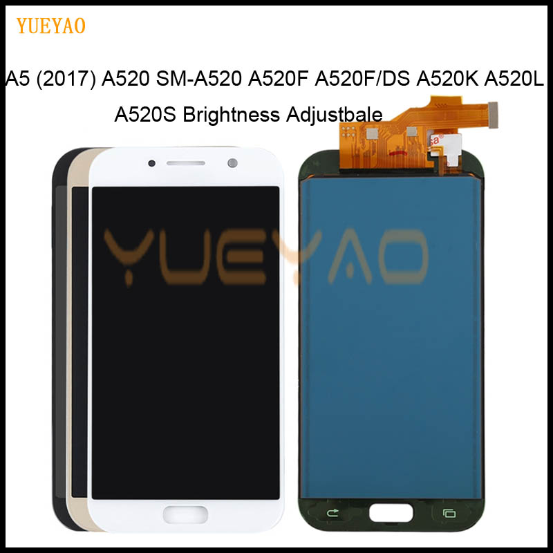 A520f LCD For <font><b>Samsung</b></font> Galaxy <font><b>A5</b></font> 2017 LCD <font><b>A520</b></font> SM-A520F LCD Display Digitizer Touch Screen For <font><b>Samsung</b></font> <font><b>A5</b></font> 2017 Display <font><b>A520</b></font> LCD image