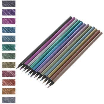 цена на 12Pcs Metallic Non-Toxic Colored Drawing Pencils 12 Colors Drawing Sketching Pencil Stationery Colour Pencil