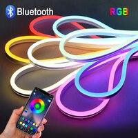 12V RGB LED Streifen licht Mit Bluetooth APP Fernbedienung 1or2 Pcs 1/2/3/4/5M neon lampe band Für Schrank Schrank Decor beleuchtung
