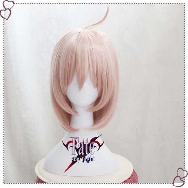 Gamer Fate Grand Order FGO Okita Souji Wig Cosplay Sakura Saber Short Synthetic Hair Anime Party Halloween Props 1