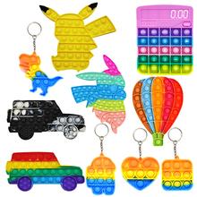 Push Bubble sensoryczne zabawki typu Fidget-Stress Relief silikonowe zabawki odciążające ciśnienie Pop интересные детские мегрушки tanie tanio CN (pochodzenie) W wieku 0-6m 7-12m 13-24m 25-36m 4-6y 7-12y 12 + y 18 + Zwierzęta i Natura Do jazdy Fantasy i sci-fi Sport