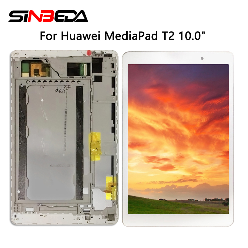 For Huawei MediaPad T2 10.0 Pro LCD 10 inch For Huawei FDR-A01L FDR-A01W FDR-A03 With Frame Display Touch Digitizer Screen image