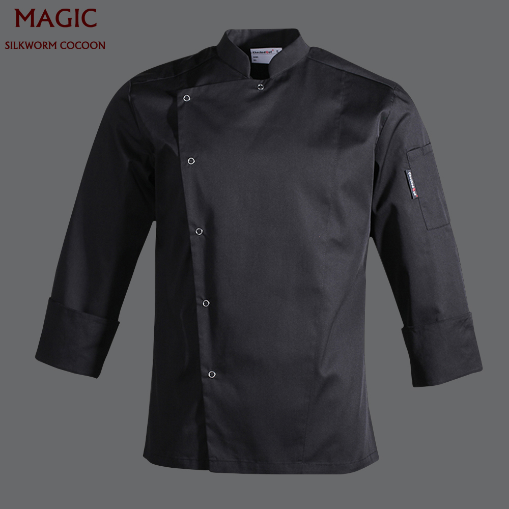 Chef Uniform For Unisexs Restaurant Uniform S-3XL Wholesale Women Men Long/Short-Sleeve Kitchen Hotel Chef Jacket Bake Uniform