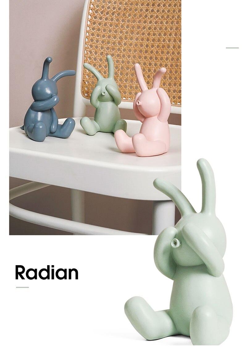 Ins nórdico coelho decoração modelo animal sala
