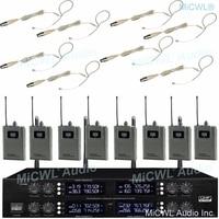 برو أوف 8 بيج واحد سمّاعة أذن متعددة الاتجاهات ميكروفون لاسلكي ميكروفونات نظام 400 تردد قابل للتعديل-في الميكروفونات من الأجهزة الإلكترونية الاستهلاكية على